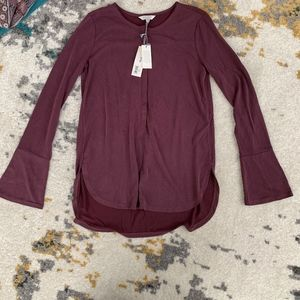 Lucky Brand Blouse with Bell Sleeves